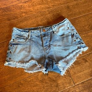 Cotton On Cutoff Jean Shorts, 8